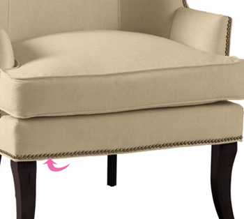 Nail Head Wing Back Chair