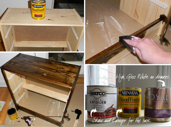 Painting and Staining Nightstand